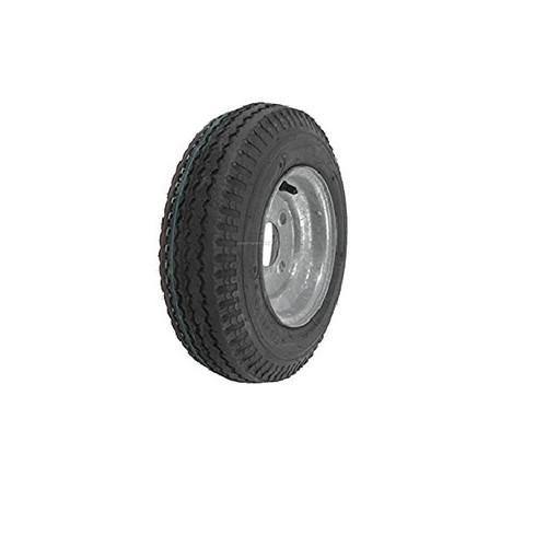 "Loadstar 530-12 4 Lug 12"" Bias Trailer Tire - Galvanized Load B"