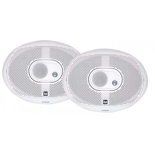 Dual 6x9 Marine Speakers, 200W 3-Way