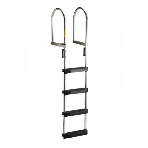 Garelick Dock/Raft Ladder - Flip-Up Model - 4 Step