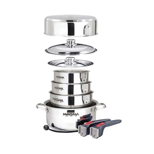 Magma 10 Piece Stainless Steel Nesting Induction Cookware