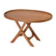 Garelick Folding Deck Table - Solid Teak Series