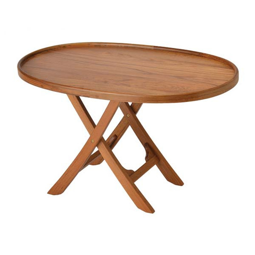 Garelick folding boat deck table solid teak series for Table 6 usmc