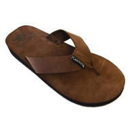 Flip Flop Drk Brown Leather Sandal For Men & Women By Calcutta