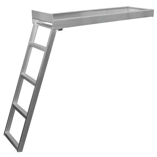 JIF Marine Under-Deck Pontoon Ladder - Flat Front