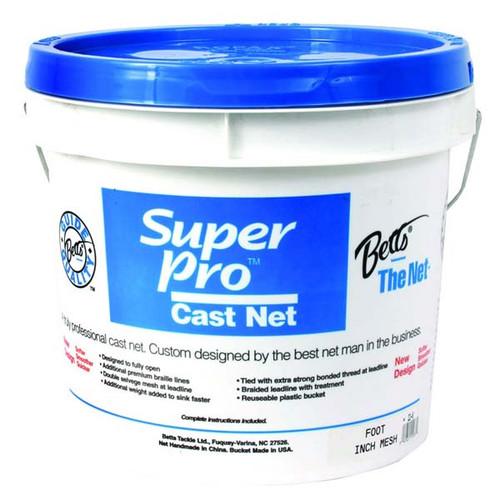 """Super Pro Mono Bait Cast Net W/ 1/4"""" Mesh By Betts"""