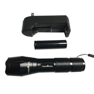 Marine CREE LED 1,600 Lumen Flashlight with 18650 Lithium Battery and Charger