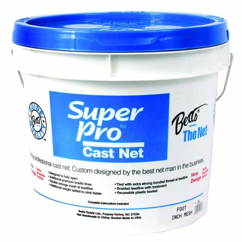 "Betts Super Pro Mono Cast Net W/ 1/2"" Mesh"
