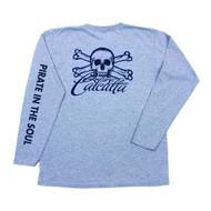 Calcutta Ladies Gray T-Shirt W/ Logo