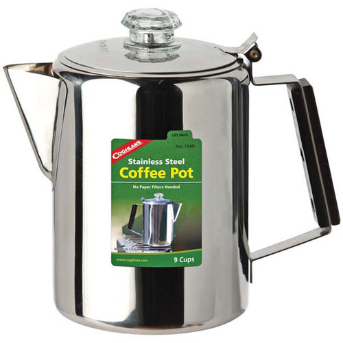 Coghlan's Stainless Steel 9 Cup Coffee Pot