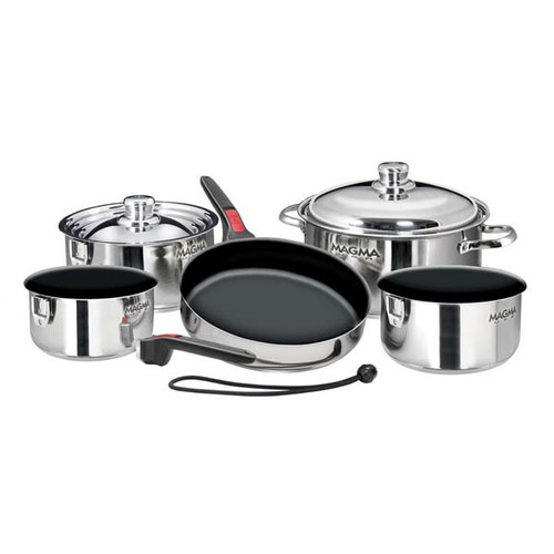 Magma 10 pc. Stainless Induction Cookware w/ Teflon Non-Stick