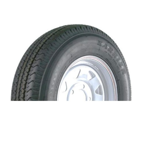 "Kenda Karrier KR03 205/75D14 5 Lug 14"" Radial Trailer Tire - White Spoke"