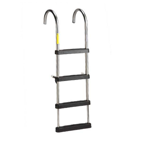 Garelick EEz-In Telescoping Stainless Steel Pontoon Ladder w/ Deck Mounting Cups