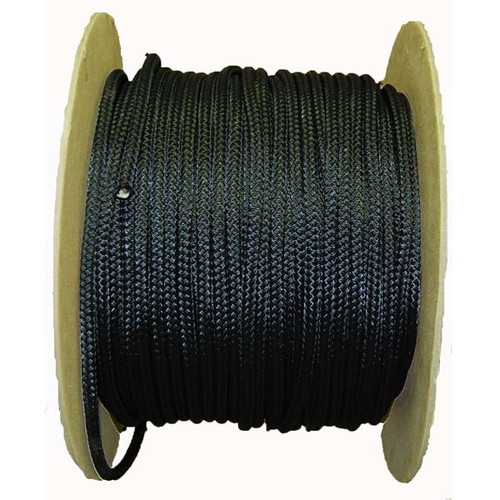 Aamstrand Double Braided Nylon Rope - Black - Per Foot