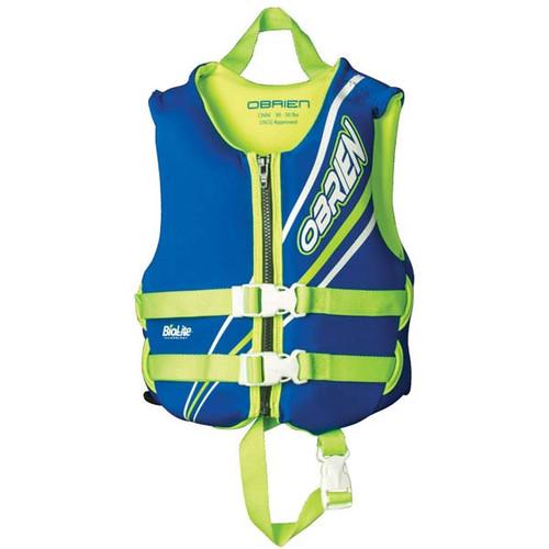 O'Brien Child Life Vest - Blue/Green 30-50 lbs