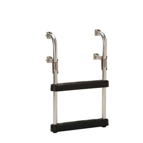 "Garelick Transom Ladder w/ 16"" Wide Black Poly Steps"