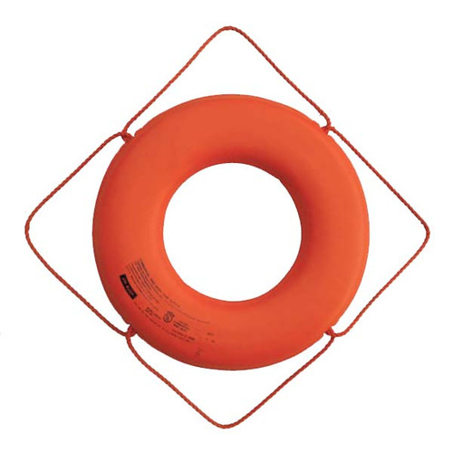 "Cal-June USCG Approved 30"" No Strap Life Ring - Orange"