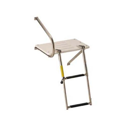 Garelick Transom Platform w/ Telescoping Ladder