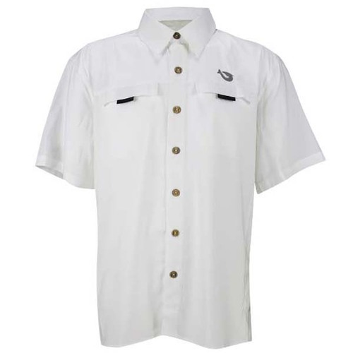 Mojo Mr. Big Short Sleeve Performance Vented Shirt - White