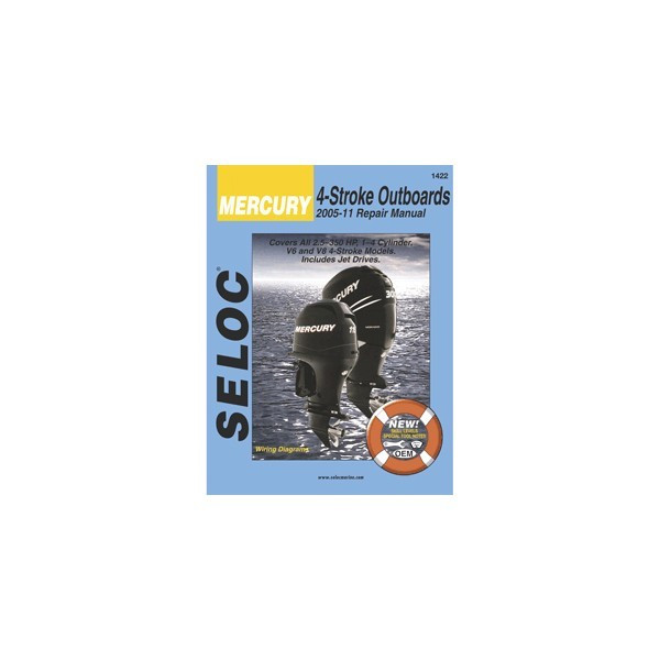 seloc service manual mercury outboard 4 stroke 2005 2011 rh wholesalemarine com Seloc Marine Repair Manuals Seloc vs Clymer Manuals