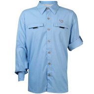 Mojo Mr. Big Long Sleeve Performance Vented Shirt - Sky Blue
