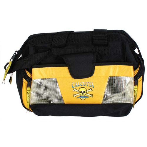 Yellow & Black Widemouth Tackle Bag By Calcutta