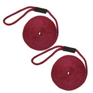 Softlines Boat Fender Line - Pair - Burgundy