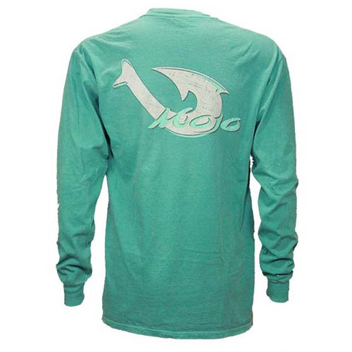 Mojo Corporate Pigment Dyed Long Sleeve Tee - Seafoam