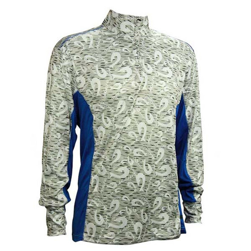 Mojo Ultimate Guide 1/4 Zip Performance Shirt - Hook Blue