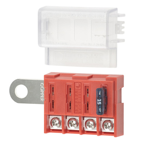 Blue Sea 4 Circuit Battery Terminal Fuse Block
