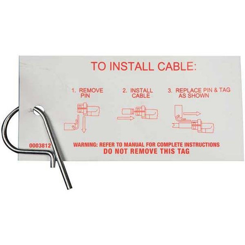 Teleflex Hitch Pin & Tag for Safe-T QC Helms