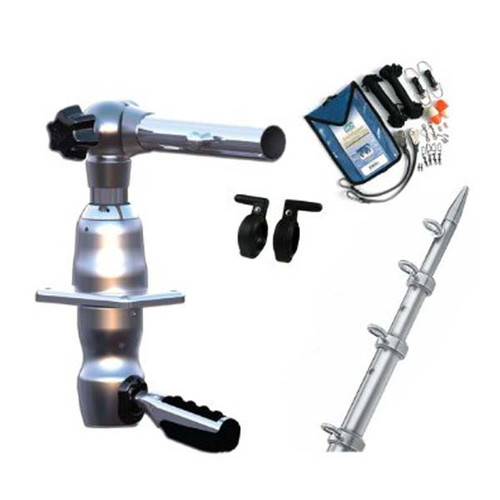 Taco Marine Grand Slam 280 Outrigger Kit - Silver/Silver