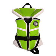 Mustang Survival Lil' Legends 100 Child Life Vest - White/Apple Green
