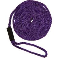 Softlines Boat Mooring Line - Purple