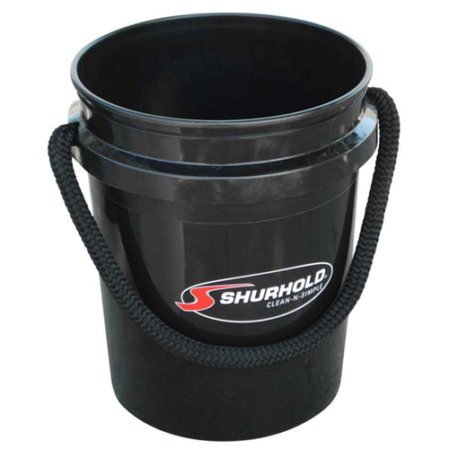 Shurhold Rope Handle Black Bucket 5 Gallon