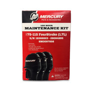 Mercury Marine 100-Hour Maintenance Service Kit - 75-115 HP FourStroke (1.7L) (8M0097856)