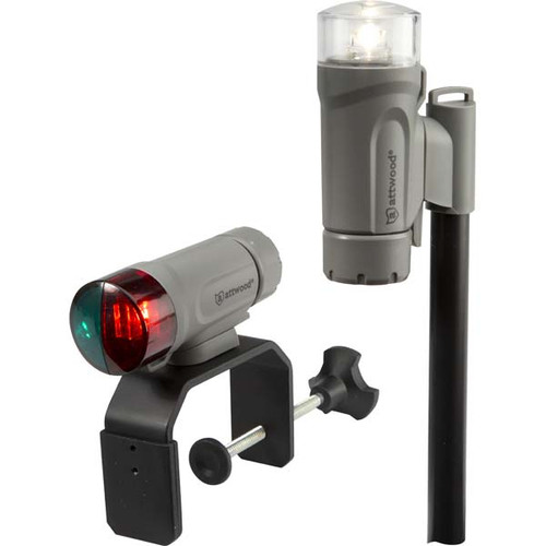 Attwood Telescoping Portable Bow and Stern Clamp-On Light