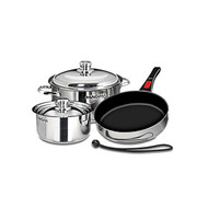 Magma 7 pc. Stainless Induction Cookware w/ Ceramica Non-Stick