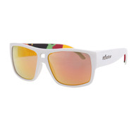 Bomber Irie Bomb Gloss White Red Mirror Lens