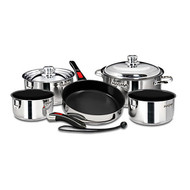 Magma 10 pc. Stainless Cookware w/ Black Ceramica Non-Stick