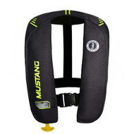 Mustang Survival MIT Auto Activation PFD Life Vest - Black/Yellow Green