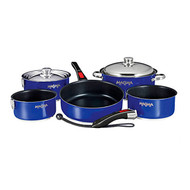 Magma 10 pc. Stainless Induction Cookware w/ Black Ceramica - Blue