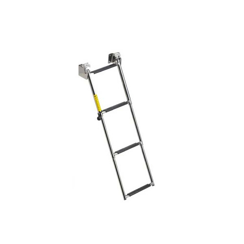 Garelick Telescoping 4-Step Transom Ladder