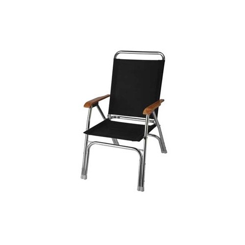 Garelick High Back Deck Chair - Black