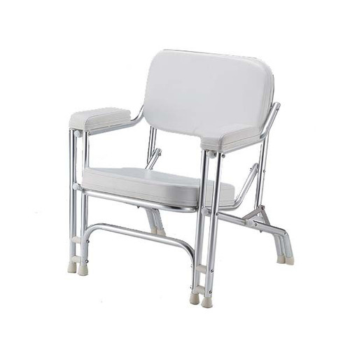 Padded Deck Chair Stainless Frame