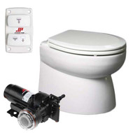 Johnson Pump AquaT Premium Electric Marine Toilet - Beveled, Low