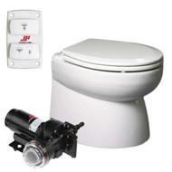 Johnson Pump AquaT Premium Electric Marine Toilet - Beveled, Low