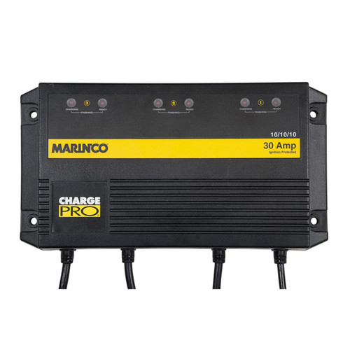 Marinco 30A, 12/24/36V 3 Bank On-Board Battery Charger