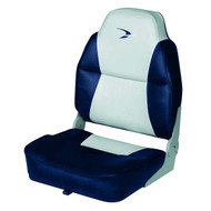 Wise Lund Style Premium Folding Boat Seat - Grey/Navy