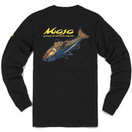 Mojo Neon Redfish Long Sleeve Shirt Back