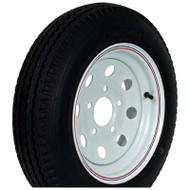 "Kenda Loadstar 205/75D15 5-Lug 15"" Bias Trailer Tire - White Mini Mod"